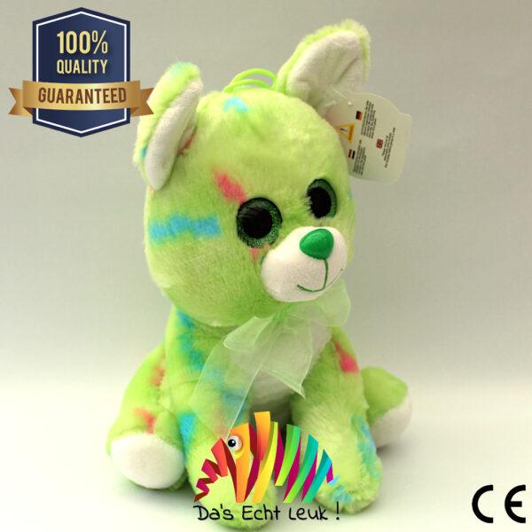 8720256361589 Hond Pluche Licht Groen