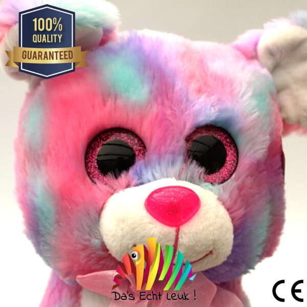 8720256361596 Hond Pluche Roze Gevlekt