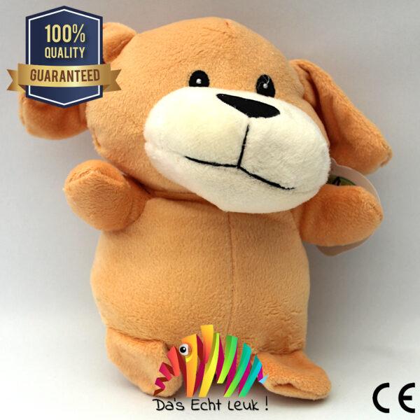 Hond Pluche Bruin 20cm