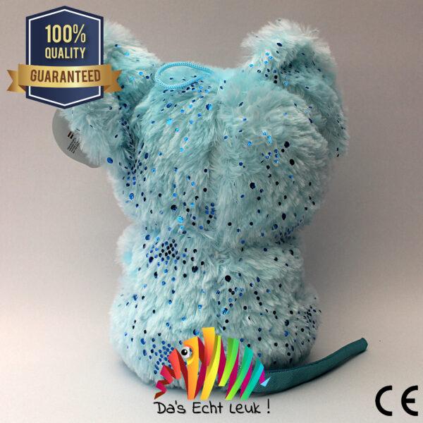 Muis Pluche Blauw Glitter